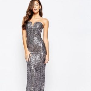 Asos Gown in Gunmetal